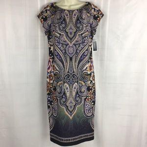 Eci New York SZ 8 Short Sleeve Midi Dress New